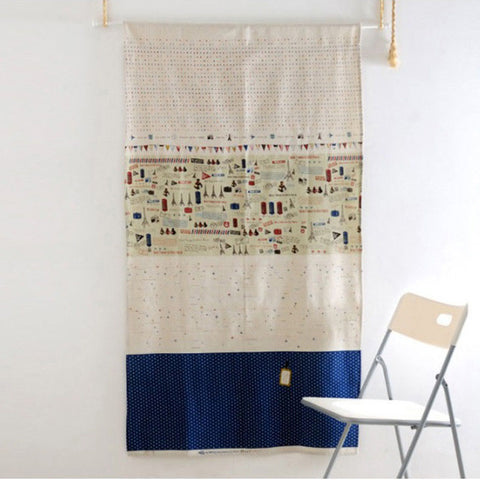 Linen Door Way Curtain in Modern Design,Wall Hanging, Room Divider Curtain