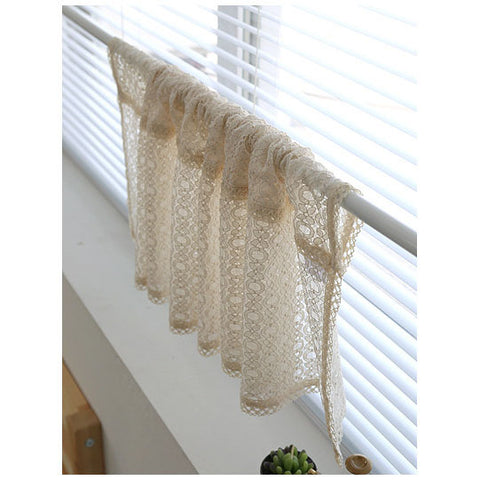 Princess Lace Valance Cafe Curtain, Farm House Curtain, Bathroom Valance, Alter Curtain For Small Window 2 size