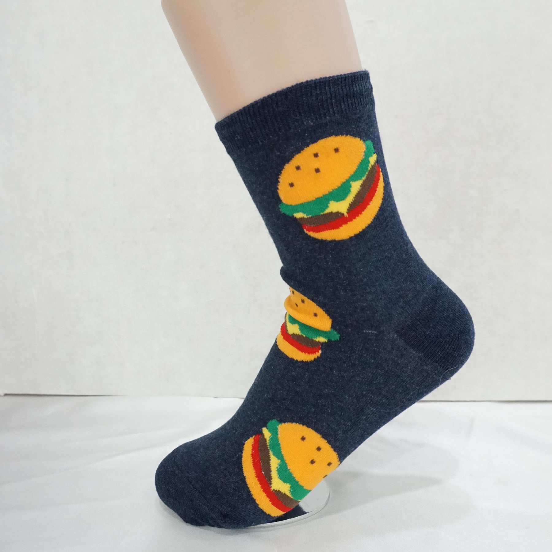 5Pairs Women's Cotton Street Food Print Novelty Micro Crew Socks