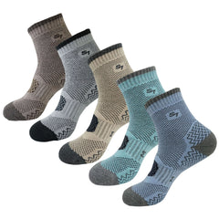 5pack Women's  Cushion Mid Quarter Length Hiking Socks