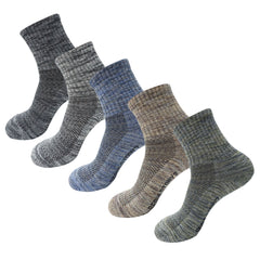 5Pack Men's Mid Cushion Low Cut Hiking/Camping/Performance Socks