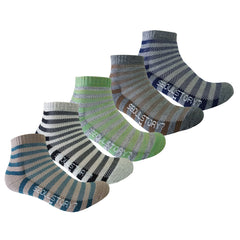 5Pack Men's Light Cushion Mini Hiking/Performance/Trail Athletic Socks Stripe