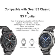 Replacement Universal Stainless Steel Straps Compatible with the Samsung Galaxy Watch, Samsung Gear S3 Frontier Classic S2, Huawei , Amazift