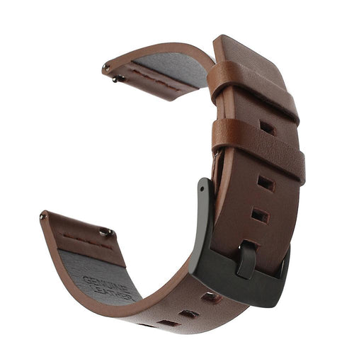 Replacement Leather Strap compatible with the Pebble Time Round, Huawei Watch 2 (Sport) and Ticwatch 2