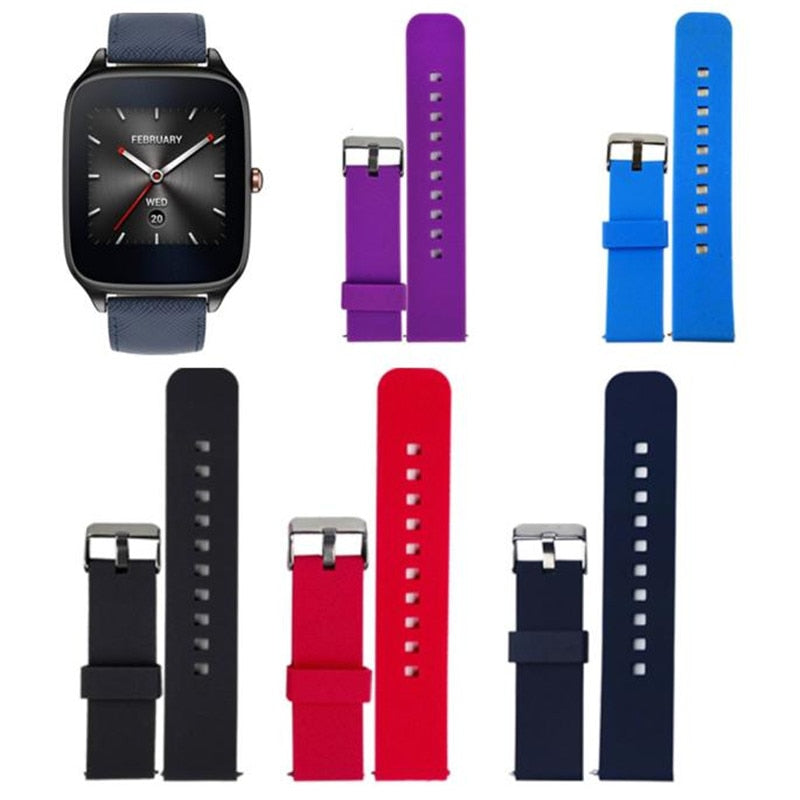 Replacement Silicone straps compatible with the ASUS ZenWatch 2