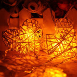1.8M Heart Shaped 10 LED String Light Battery Operated
