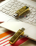 USB Flash Drive past desgin bullion gold bar USB 2.0 Flash Drive U Disk to 4 GB 8 GB 16 GB 32 GB flash drive Pendrive Usb thumb