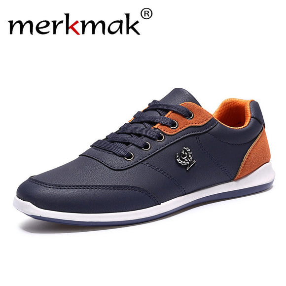 Merkmak Lace Up Designer Outdoor Men Leather Shoes