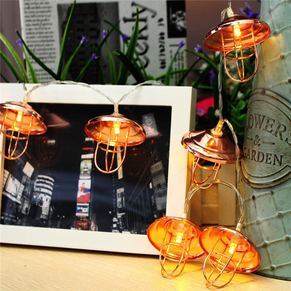 Vintage Lantern Lamp Shade 10 LED Lights