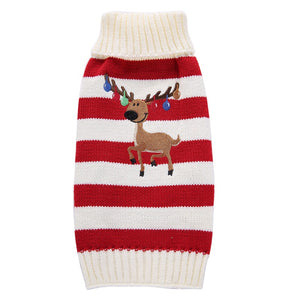 Fur baby Reindeer and Owl Sweater knitted Sweater for small dog