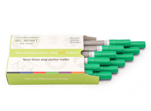 12-PACK GREEN MARKERS
