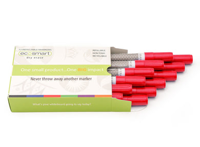 12-PACK RED MARKERS