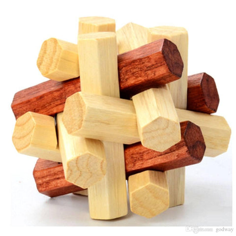 New Wooden Cube Magic Brain Puzzle Intellectual Creative Toy
