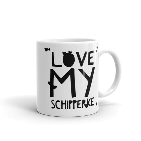 Love My Schipperke Unique Coffee Mug