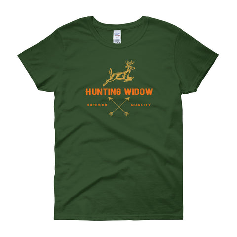 Hunting Widow Orange Lettering Unique Women's Short Sleeve T-shirt