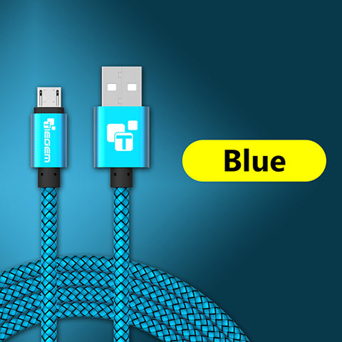 Micro USB 2A 1m Fast Charging Nylon Sync Data Cable for Android, Samsung, Sony, HTC, LG