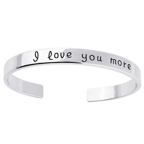 I Love You More 18K Gold Plated Unique Bangle Bracelet