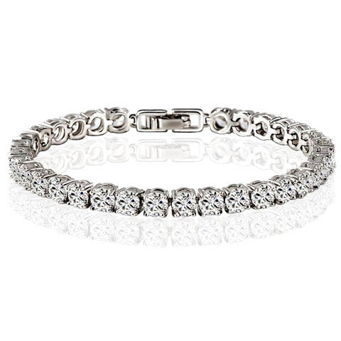 UltraElegance Diamond Eternity Tennis Bracelet