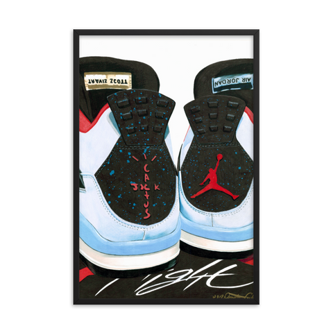 Air Jordan 4 x Travis Scott Cactus Jack Sneaker Art Print