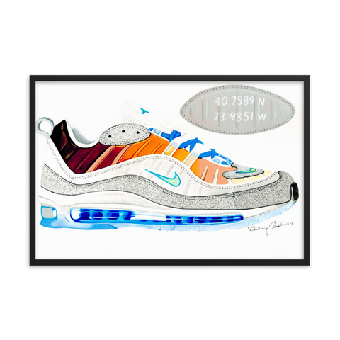 Nike On-Air: NYC Air Max 98 La Mezcla Sneaker Art Print
