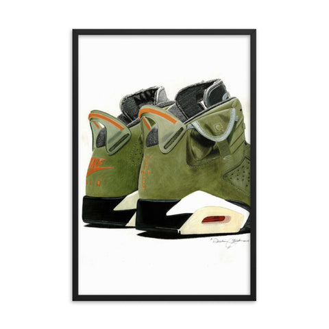 Air Jordan 6 x Travis Scott Cactus Jack Sneaker Art Print