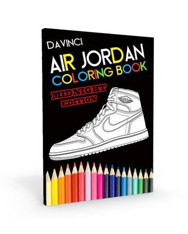 Da Vinci Air Jordan Coloring Book Midnight Edition