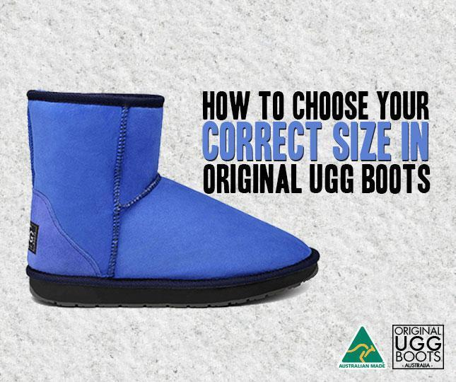 1df4394fa877 How to choose your correct size in Original UGG Boots – Original UGG Boots  Australia