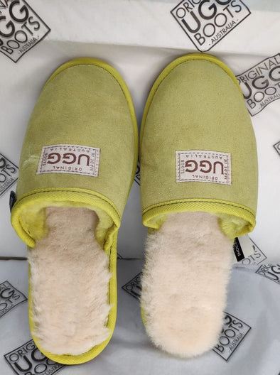 Lemon Lime Naki UGG Scuffs (Aus ladies 5)