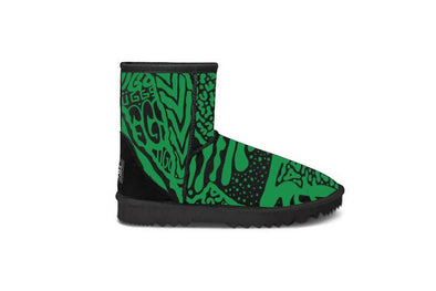 Green Graffiti Short UGG Boots