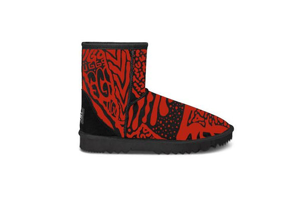 Red Graffiti Short UGG Boots
