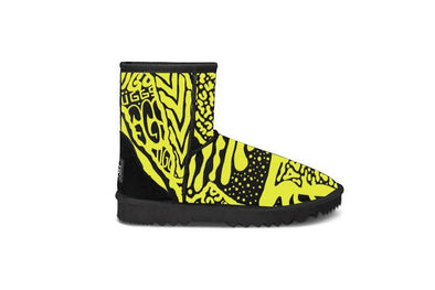 Yellow Graffiti Short UGG Boots
