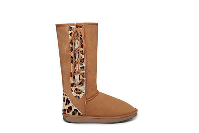 Tall Leopard Lace Up UGG Boots