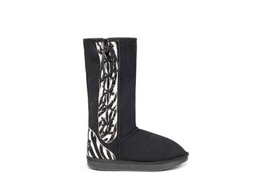 Zebra Tall Lace Up UGG Boots