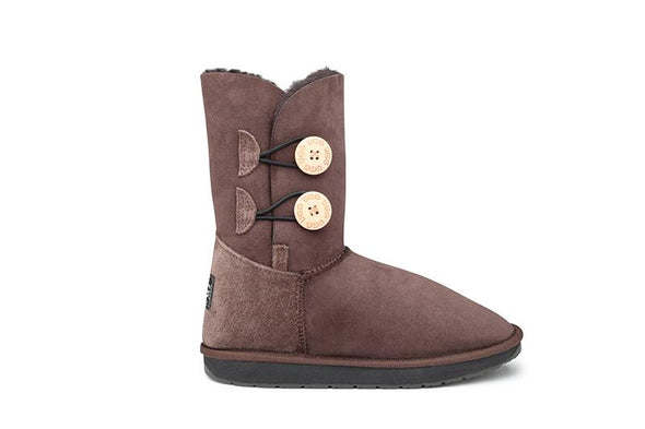 Double Button UGG Boots - Clearance