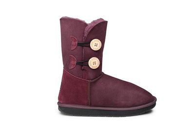 Double Button UGG Boots