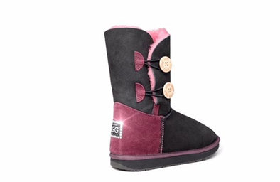 Swarovski Heel Double Button UGG Boots - Clearance
