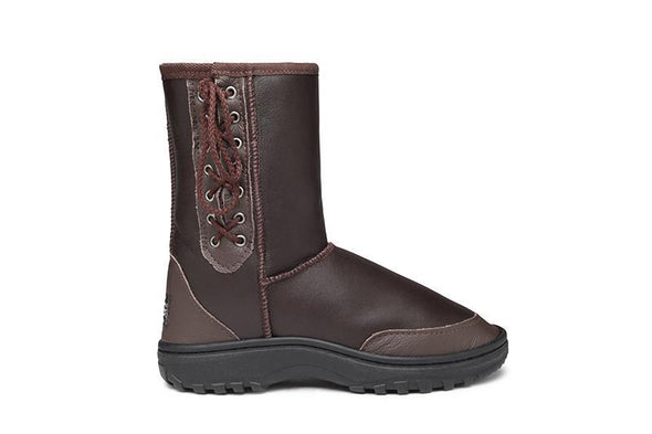 Rugged Short Lace Up UGG Boots - Clearance