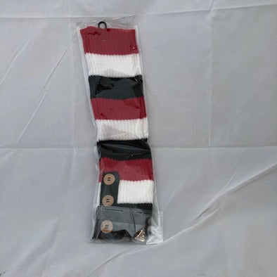 RED/WHITE/BLACK UGG SOCKS