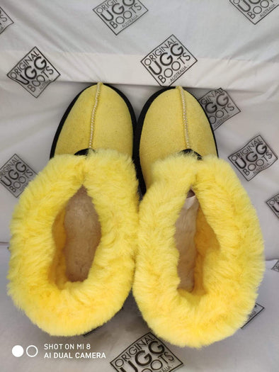 Lemon Lime UGG Slippers (Aus Ladies 5)