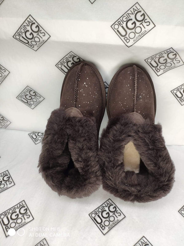 Choc Galaxy UGG Slippers (Aus Ladies 4)