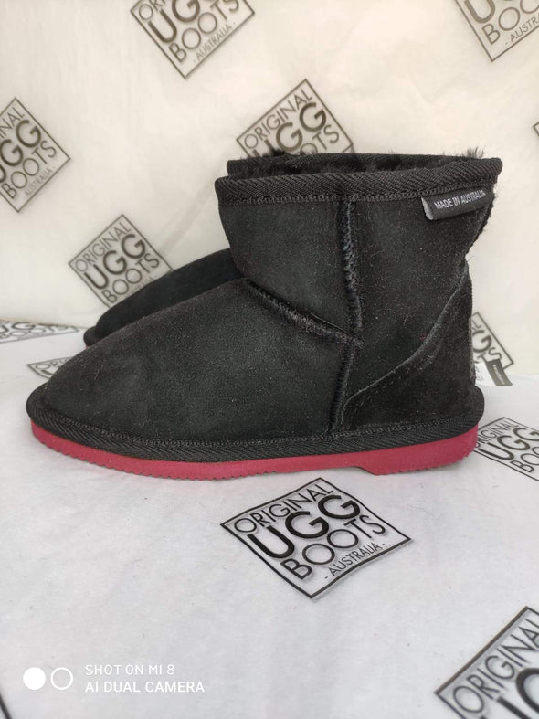 Black Ultra Short UGG Boots Size 12-13 (ruby sole)