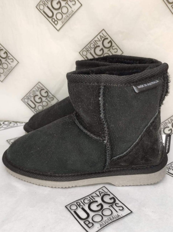 Black Ultra Short UGG Boots Size 12-13 (grey sole)