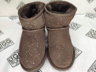 Kids Choc Galaxy Ultra Short UGG Boots (Size 10-11)