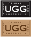 Natural Naki UGG Scuffs - Coloured Trim