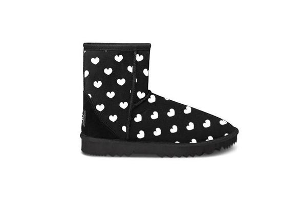 Lita Heart Black Short UGG Boots