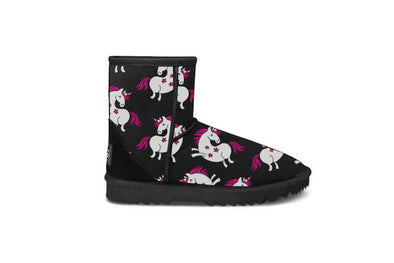 Unicorn Black Short UGG Boots