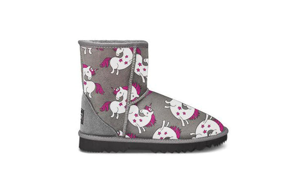 Unicorn Grey Short UGG Boots