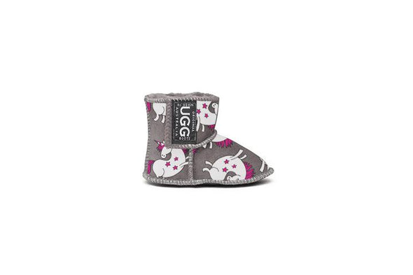 Unicorn Grey Baby UGG Boots