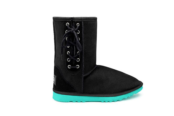Blaqua Short Lace Up UGG Boots