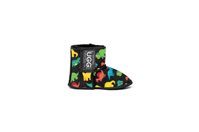 Dino Baby Black UGG Boots